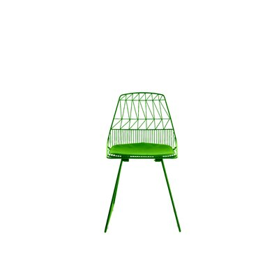 Vivi Metal Dining Chair Color: Green