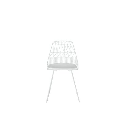 Vivi Metal Dining Chair Color: White