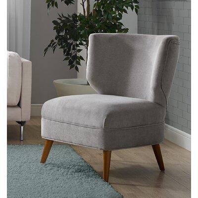 Amelie Slipper Chair Upholstery: Gray