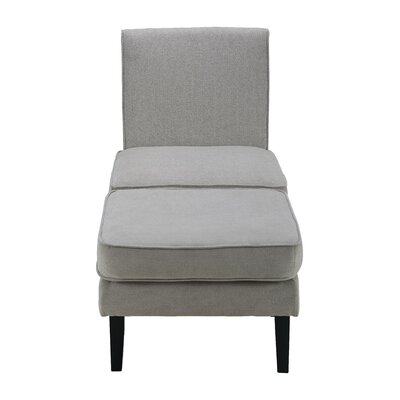 Olivia Slipper Chair and Ottoman Upholstery: Gray