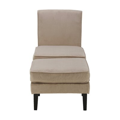 Olivia Slipper Chair and Ottoman Upholstery: Taupe