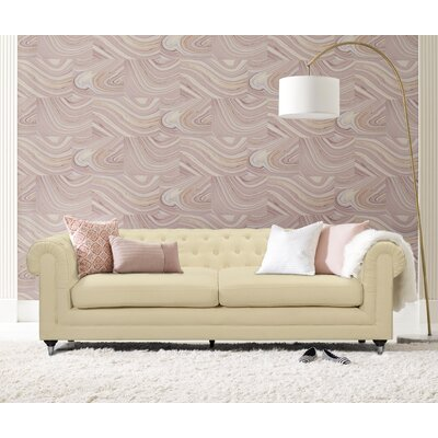 Amery Tufted Chesterfield Sofa Upholstery: Cream