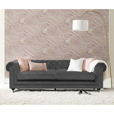 Amery Tufted Chesterfield Sofa Upholstery: Gunmetal