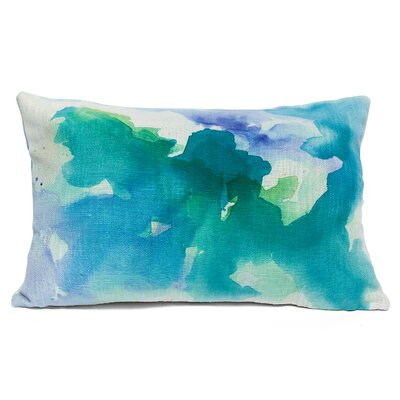 Submerge Lumbar Pillow Color: Green