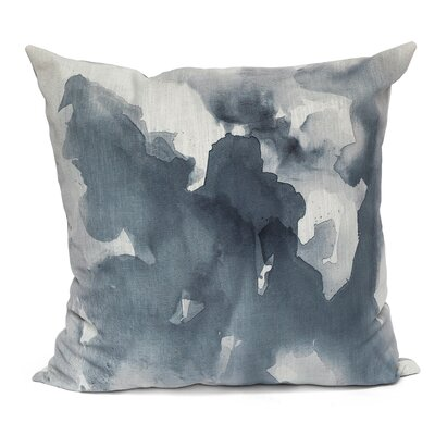 Submerge Throw Pillow Size: 26 H x 26 W, Color: Gray