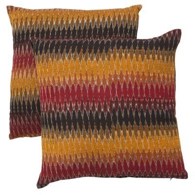 Rainbow Cascade Cotton Throw Pillow