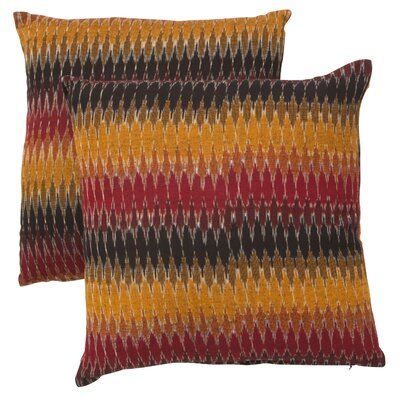 Rainbow Cascade Cotton Throw Pillow Size: 22