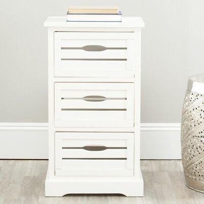 Safavieh Samara 3 Drawer Cabinet Finish: White - AMH5713A