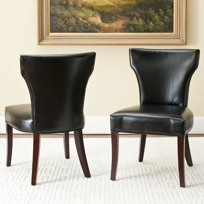 Ryan Side Chair Upholstery: Black