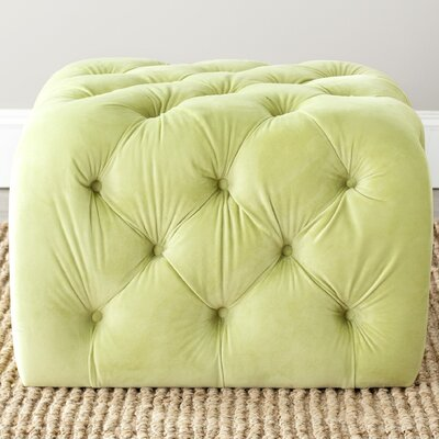 Stacie Cocktail Ottoman Upholstery: Granny Smith Apple Green
