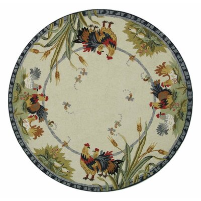 Kinchen Country Rug Rug Size: Round 56