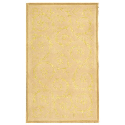 French Tapis Hand-Tufted Beige / Sand Area Rug Rug Size: Rectangle 6 x 9