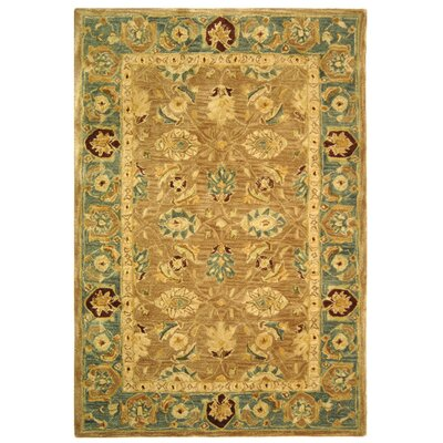 Anatolia Hand-Tufted Yellow/Green Area Rug Rug Size: Rectangle 4 x 6