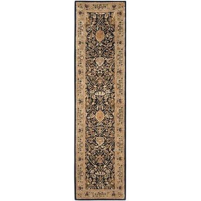 Persian Legend Black/Light Orange Area Rug Rug Size: Runner 2'6