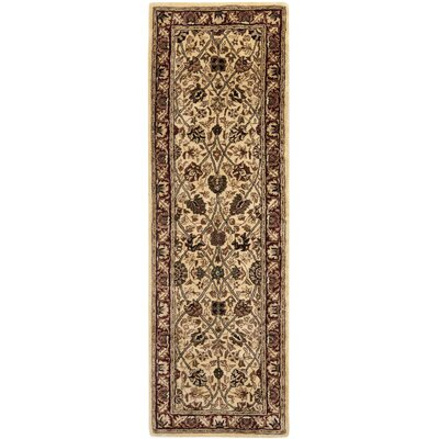 Persian Legend Hand Tufted Wool Brown/Light Yellow Area Rug Rug Size: Runner 26 x 12
