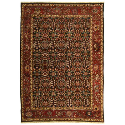 Rectangle: 6 x 9 - Turkistan Green / Red Oriental Rug