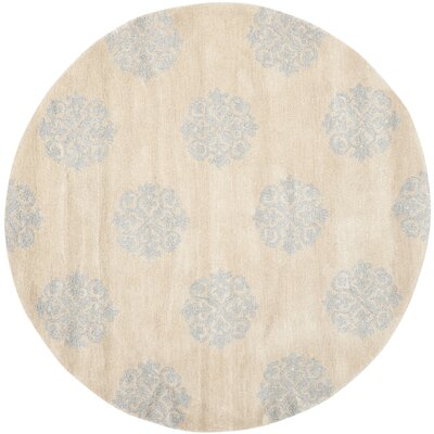 Soho Hand-Tufted Beige Area Rug Rug Size: Rectangle 36 x 56