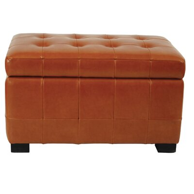 Leather Ottoman Upholstery: Saddle