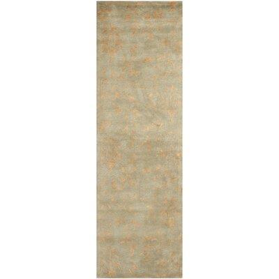 Blandinsville Hand-Tufted Sage/Rust Area Rug Rug Size: Runner 26 x 8