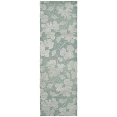 Armstrong Hand-Tufted Light Blue / Silver Area Rug Rug Size: Runner 26 x 8