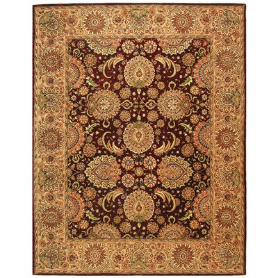Persian Court Oriental Hand-Tufted Burgundy/Beige Area Rug Rug Size: Rectangle 4 x 6