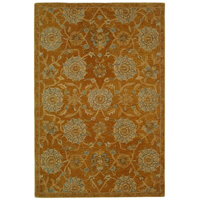 Anatolia Gold/Blue Area Rug Rug Size: Rectangle 4 x 6