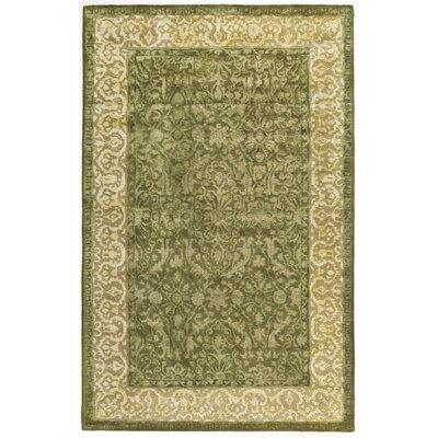 Silk Road Spruce/Ivory Area Rug Rug Size: 5 x 8