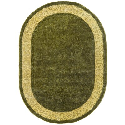 Silk Road Spruce/Ivory Area Rug Rug Size: Rectangle 4 x 6