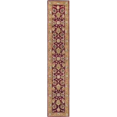 Traditions Masterpiece Red/Gold Area Rug Rug Size: Runner 26 x 10