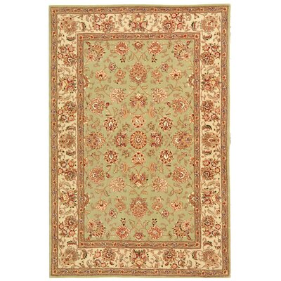 Persian Court Light Green/Ivory Kashan Rug Rug Size: 4' x 6' image