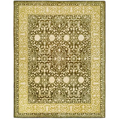 Silk Road Brown/Ivory Area Rug Rug Size: 26 x 4