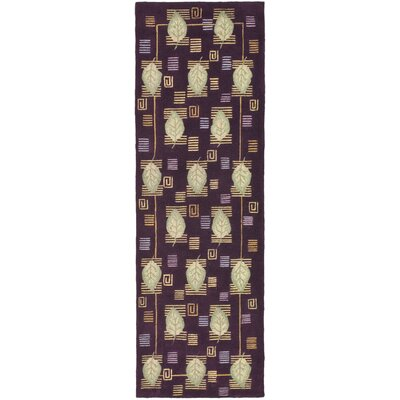 Berkeley Plum Leaves Area Rug Rug Size: Runner 26 x 8