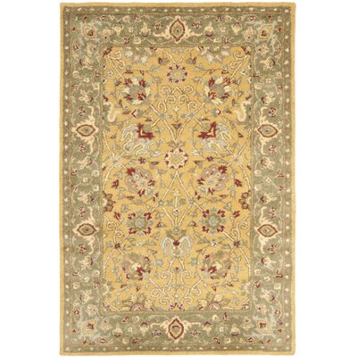 Antiquity Gold Area Rug Rug Size: 4' x 6'