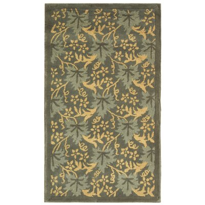 Berkeley Blue Vines Area Rug Rug Size: Rectangle 39 x 59