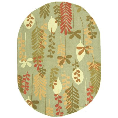 Berkeley Light Blue/Green Area Rug Rug Size: Oval 46 x 66