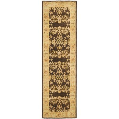 Bergama Brown/Green Area Rug Rug Size: Runner 23 x 8