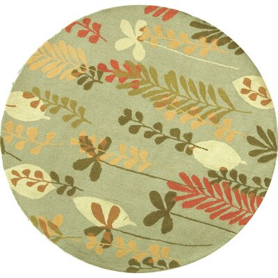Berkeley Light Blue/Green Area Rug Rug Size: Round 8