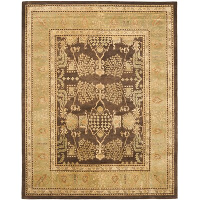 Bergama Brown/Green Area Rug Rug Size: Rectangle 8 x 10