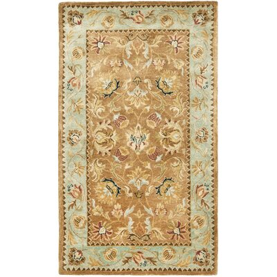Bergama Brown/Blue Area Rug Rug Size: 3 x 5