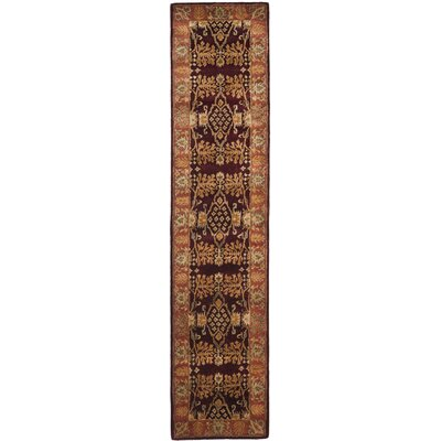 Bergama Red/Rust Area Rug Rug Size: Runner 23 x 10