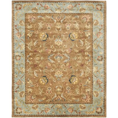 Bergama Brown/Blue Area Rug Rug Size: 8 x 10