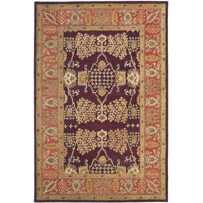 Bergama Red/Rust Area Rug Rug Size: Rectangle 6 x 9