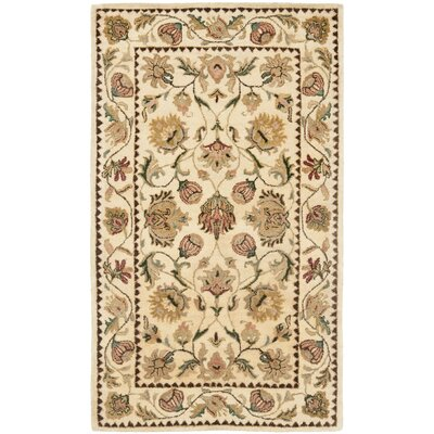 Bergama Ivory Area Rug Rug Size: Rectangle 3 x 5