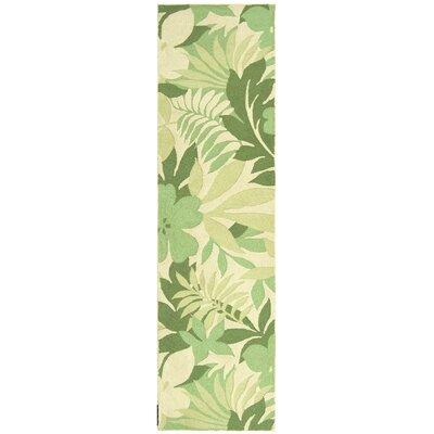 Berkeley Beige/Green Rug Rug Size: Runner 2'6 x 10' image