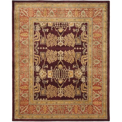 Bergama Red/Rust Area Rug Rug Size: Rectangle 8 x 10