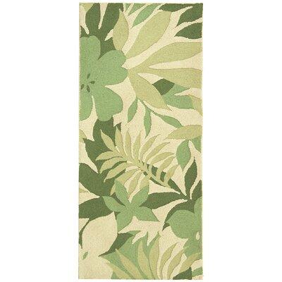 Berkeley Beige/Green Rug Rug Size: 2'6 x 6' Runner image