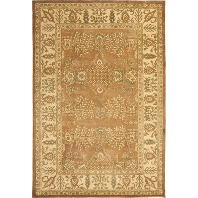 Bergama Light Brown/Beige Area Rug Rug Size: 6 x 9