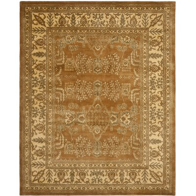 Bergama Light Brown/Beige Area Rug Rug Size: Rectangle 8 x 10