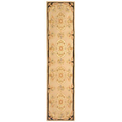 French Tapis Beige Floral Area Rug Rug Size: Runner 23 x 12