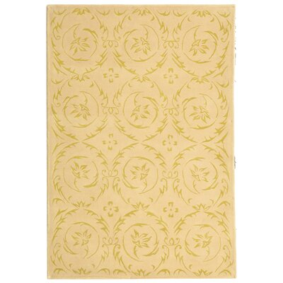 French Tapis Gold Floral Area Rug Rug Size: 5 x 8